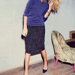 Boden notre dame multi colored tweed pencil skirt